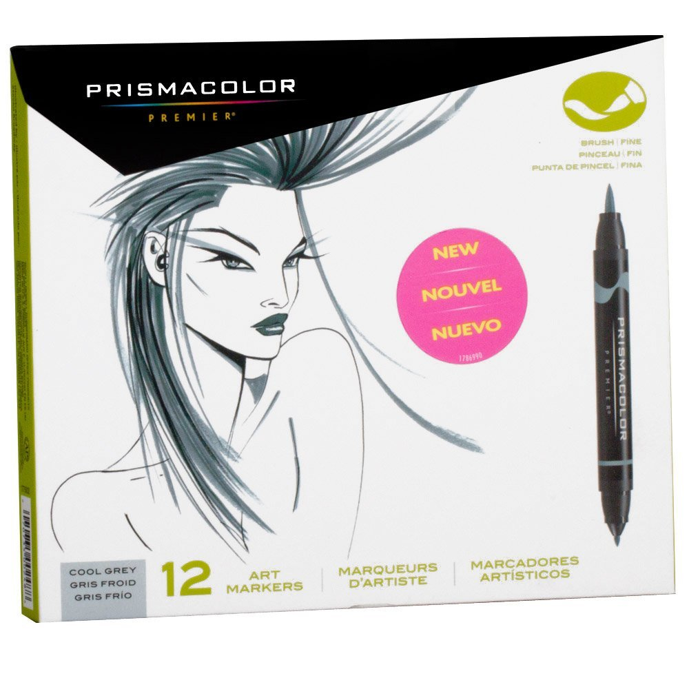 Prismacolor Brush Marker Set/12 Cool Gray
