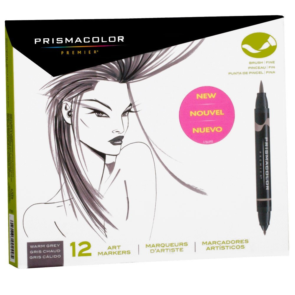 Prismacolor Brush Marker Set/12 Warm Gray