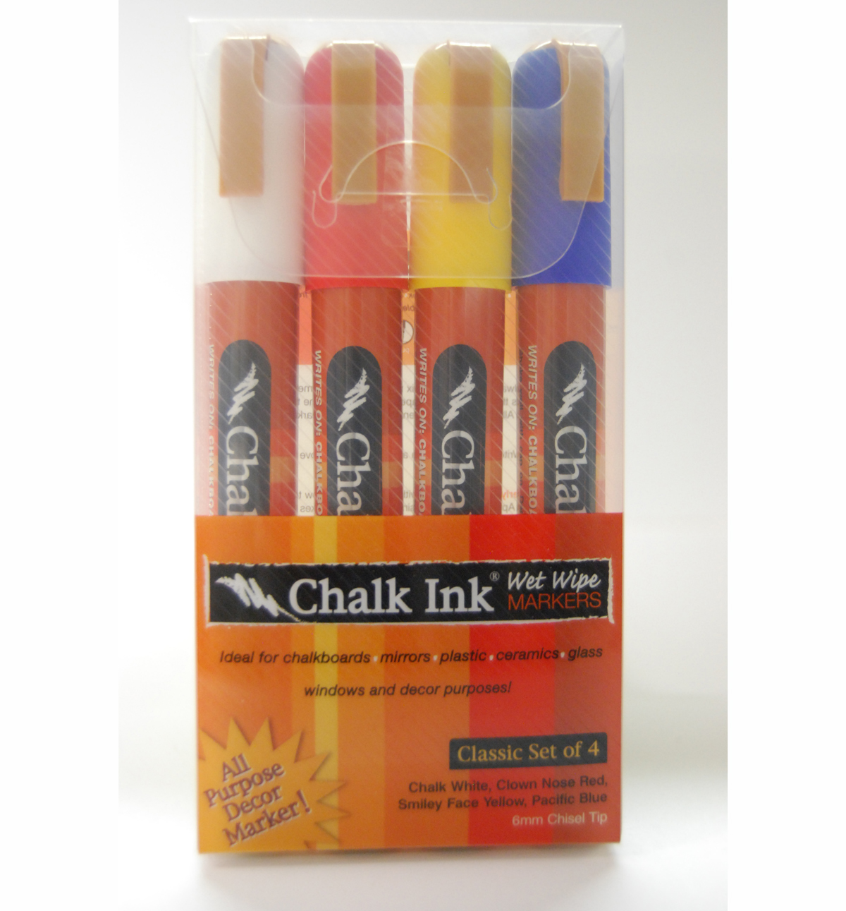 Chalk Ink Marker 6Mm Classic Set/4
