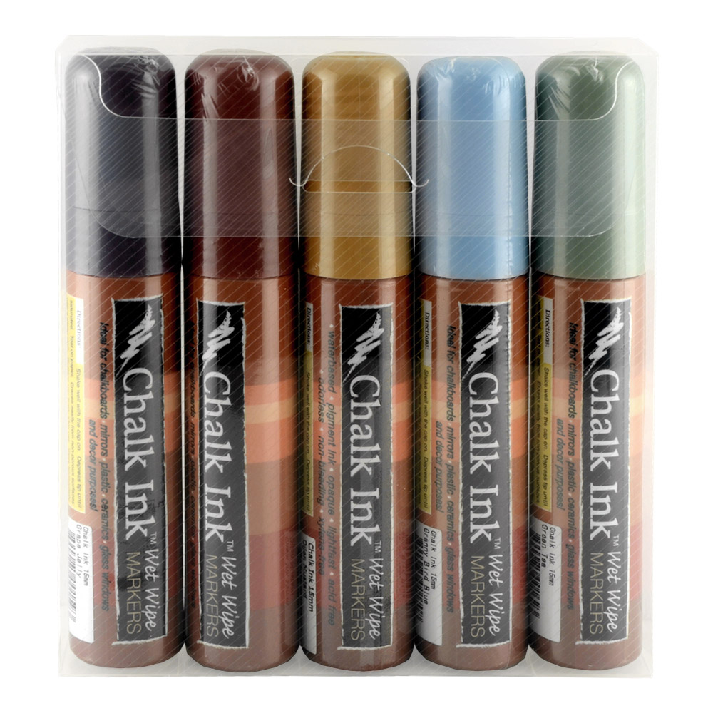 Chalk Ink Marker 15Mm Earthy Set/5