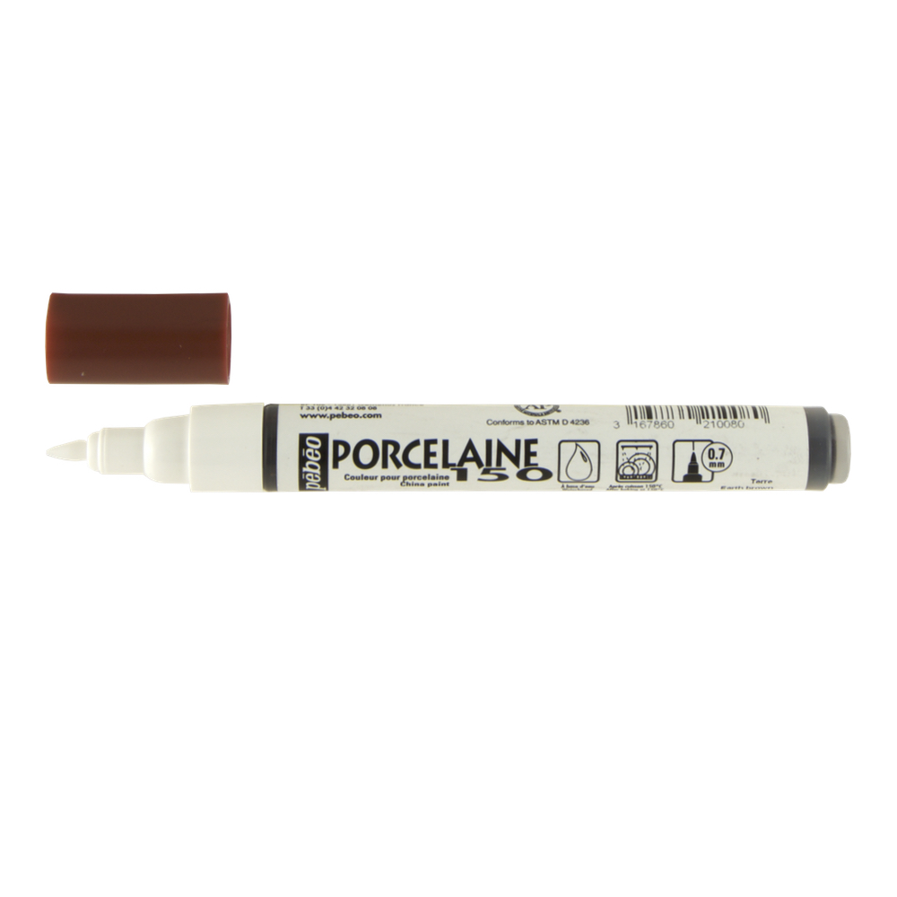 Pebeo Porcelaine 150 Fine Marker Earth Brown