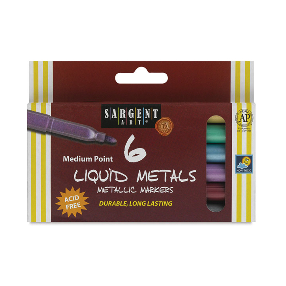Liquid Metal Metallic Marker Set Of 6