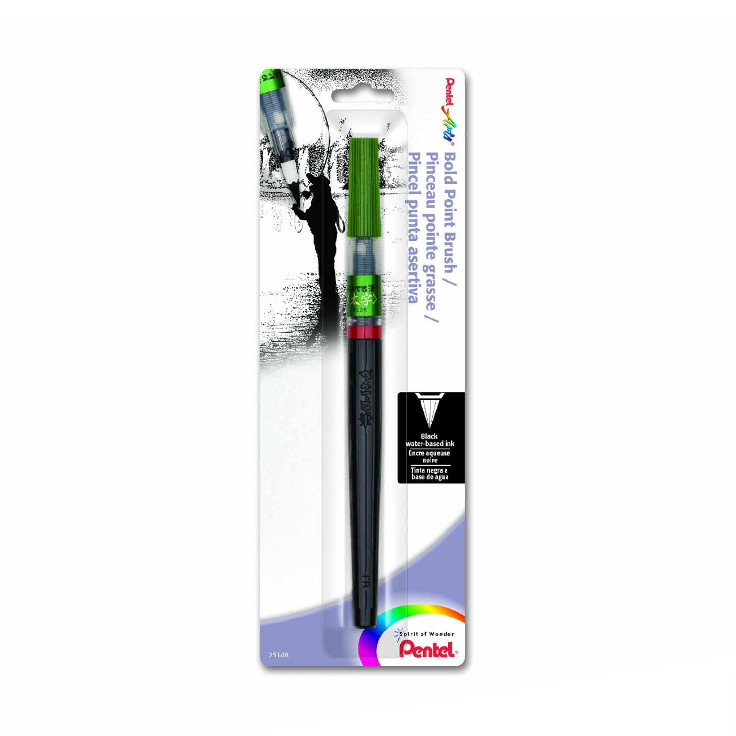 Pentel Brush Bold Point Black 1Pk