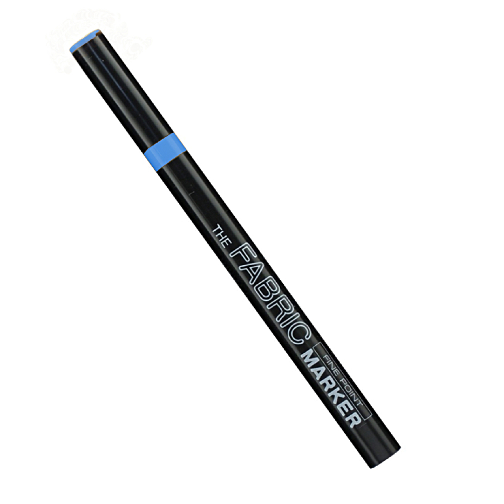 Fabric Marker Fine Fluorescent Blue