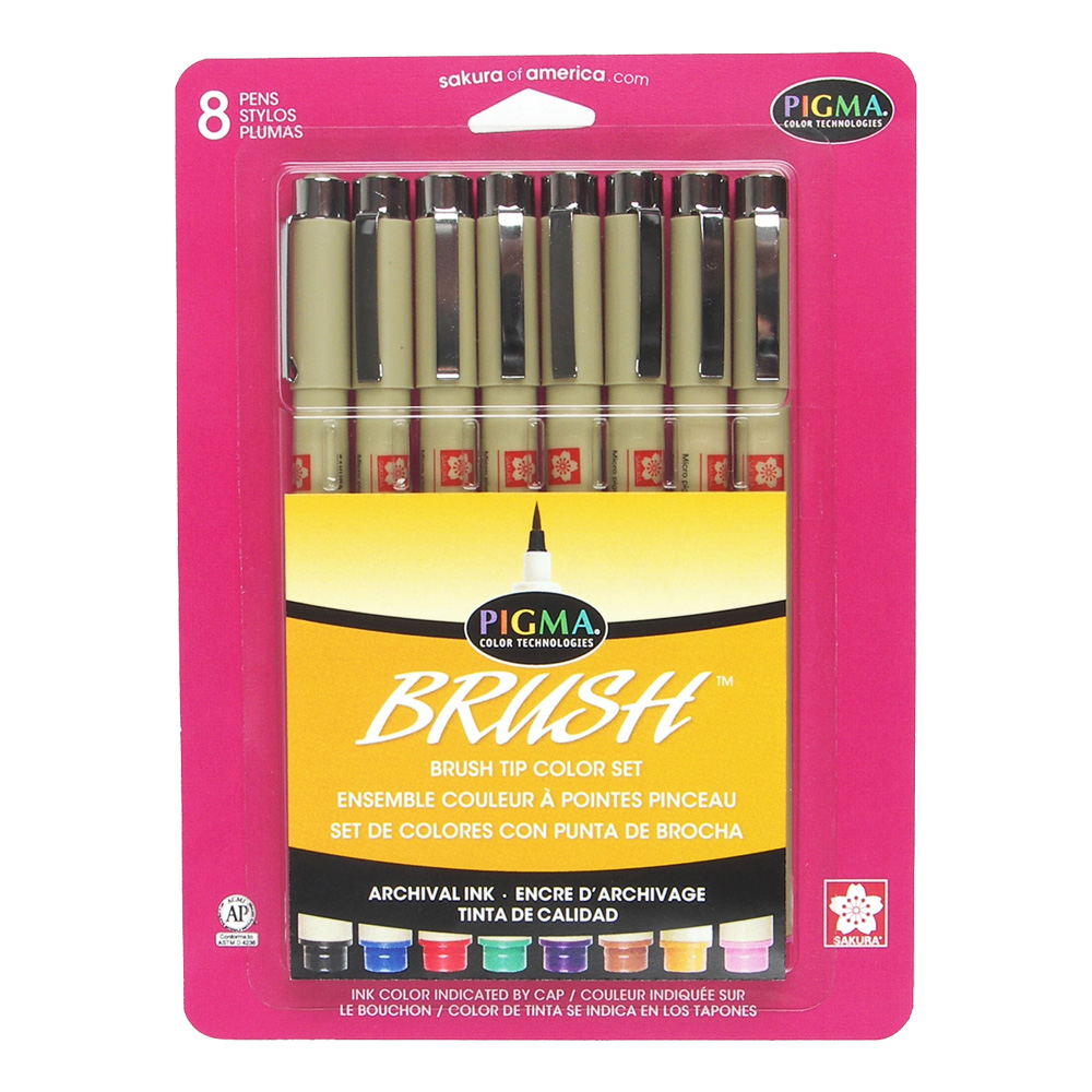 Pigma Brush Marker Set Of 8