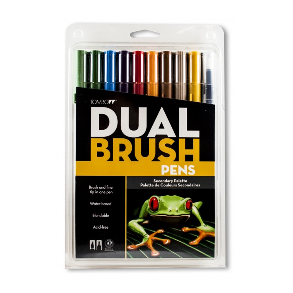 Tombow Dual Brush Pen Set - 10 Secondary