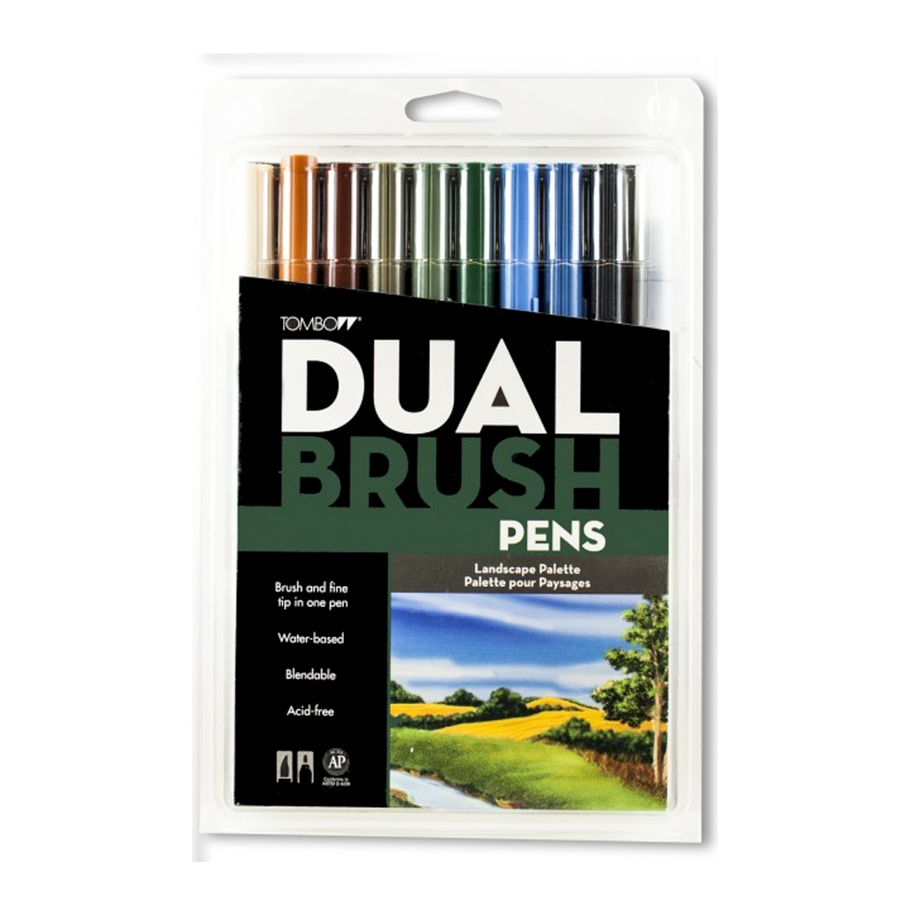 Tombow Dual Brush Pen Set - 10 Landscape