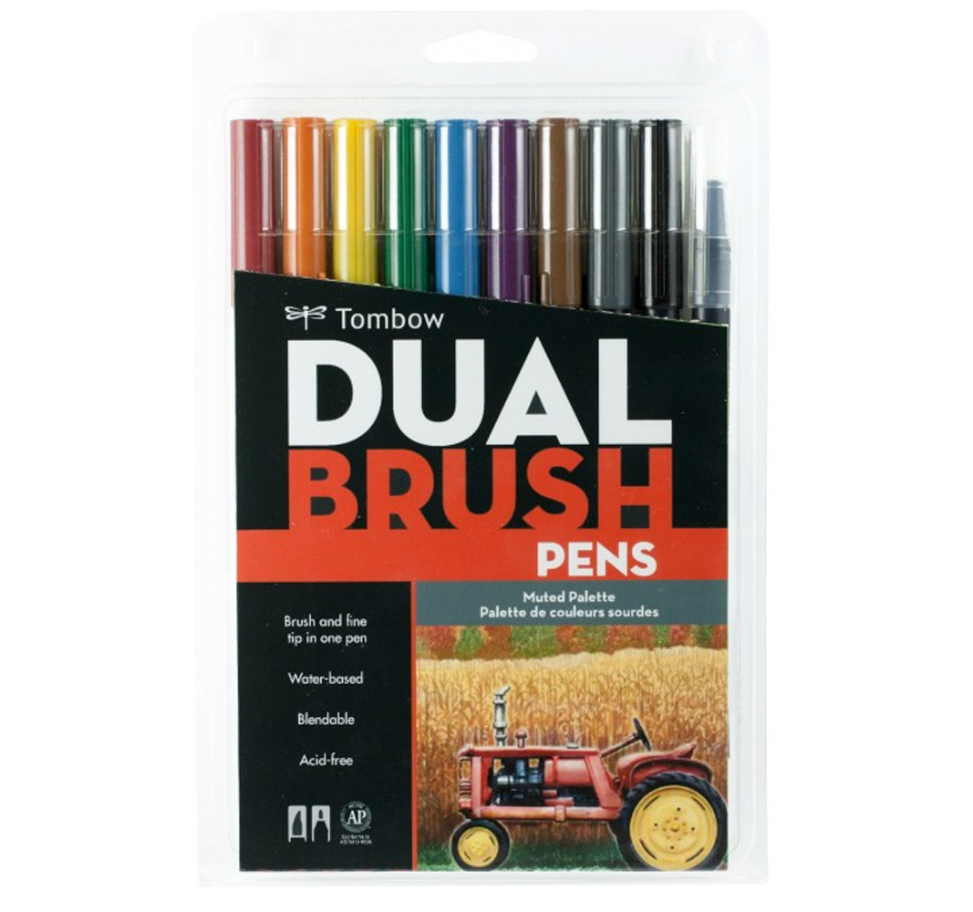 Tombow Dual Brush Pen Set - 10 Muted