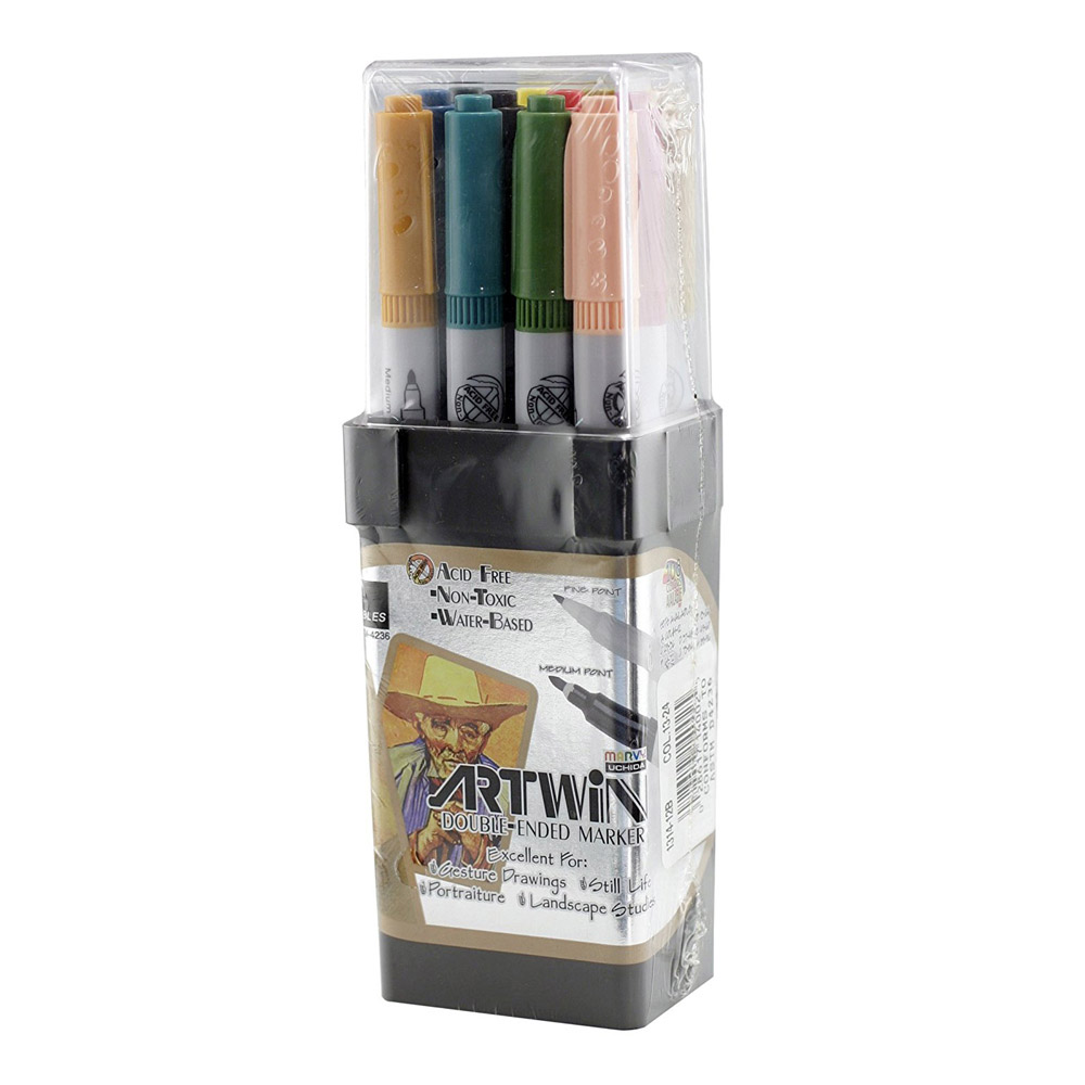Artwin Double-ended Marker Set Colors 13-24