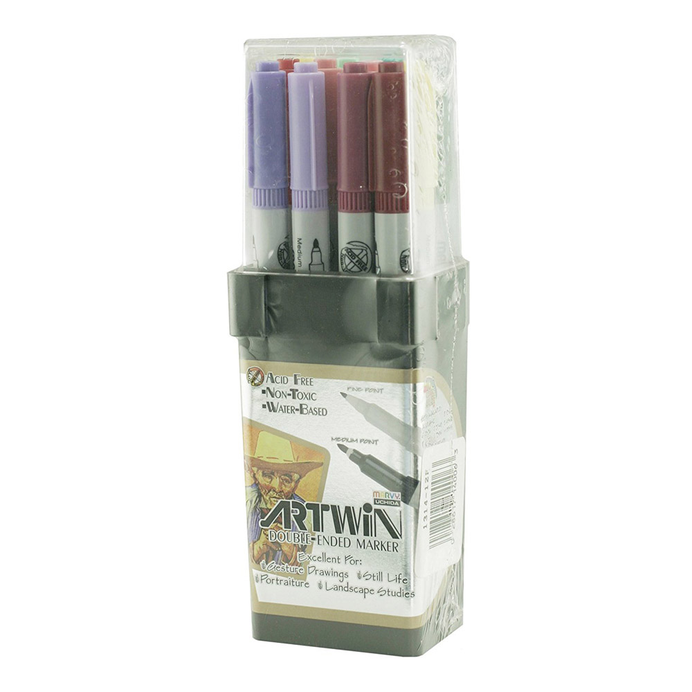 Artwin Double-ended Marker Set Colors 61-72