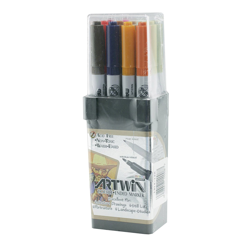 Artwin Double-ended Marker Set Colors 85-96