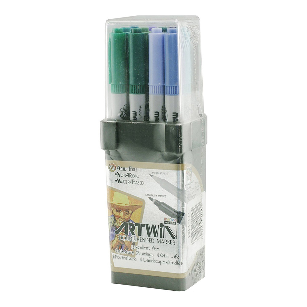 Artwin Double-ended Marker Set Colors 97-108