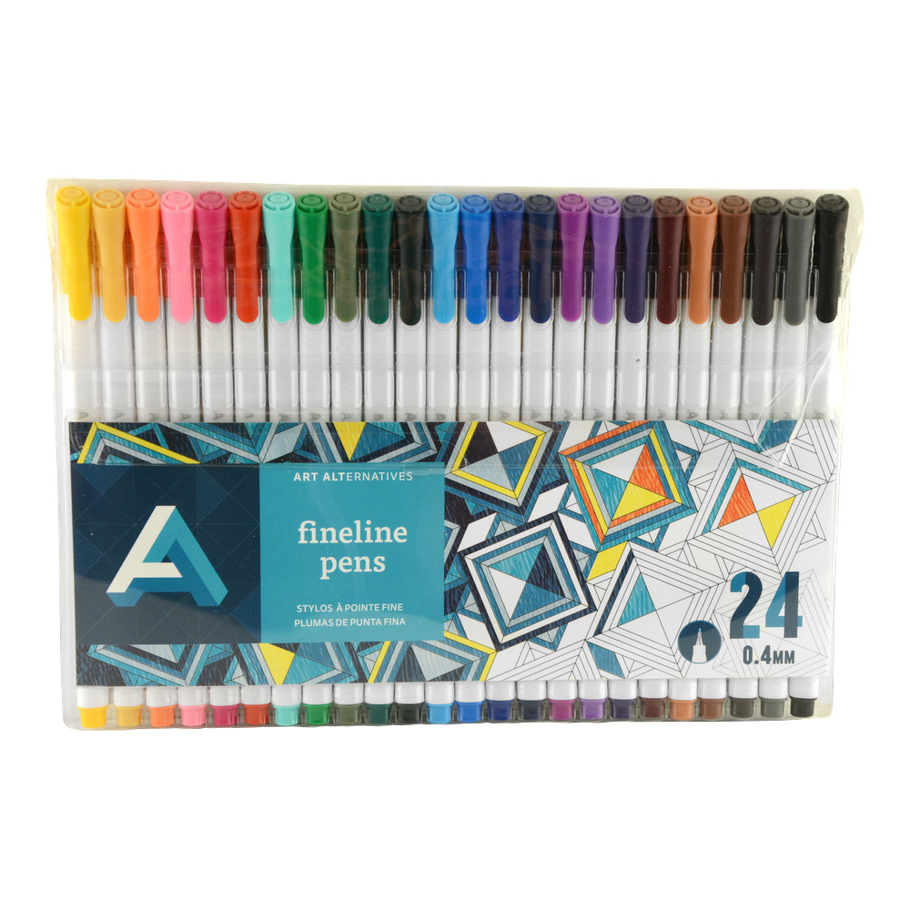 Art Alternatives Fine Liner Pen Set/24