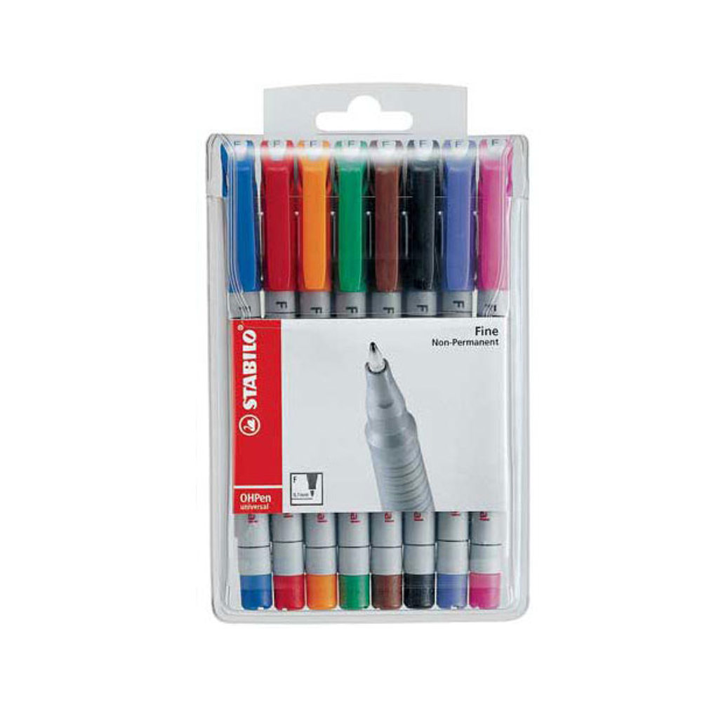 Stabilo Ohpen Watersoluble Fine Set Of 8