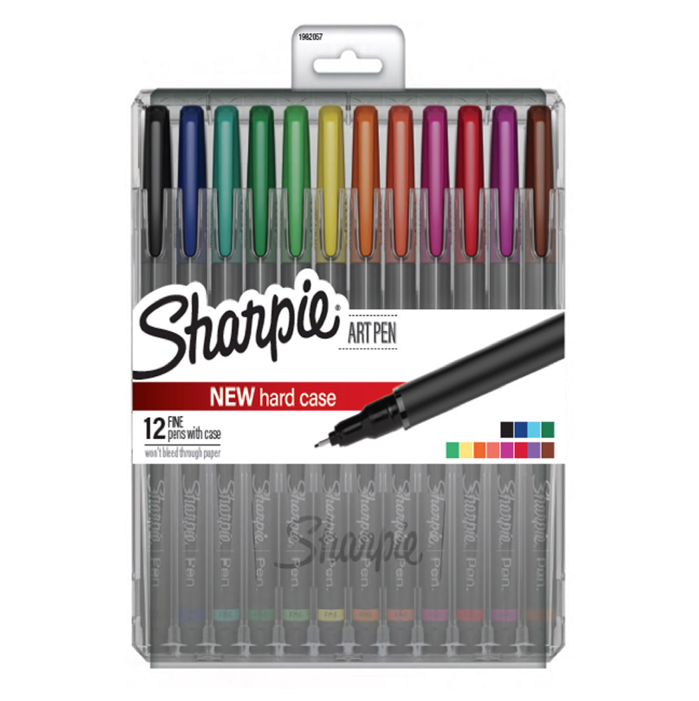 Sharpie Art Pen 12 Finepoint Color Set