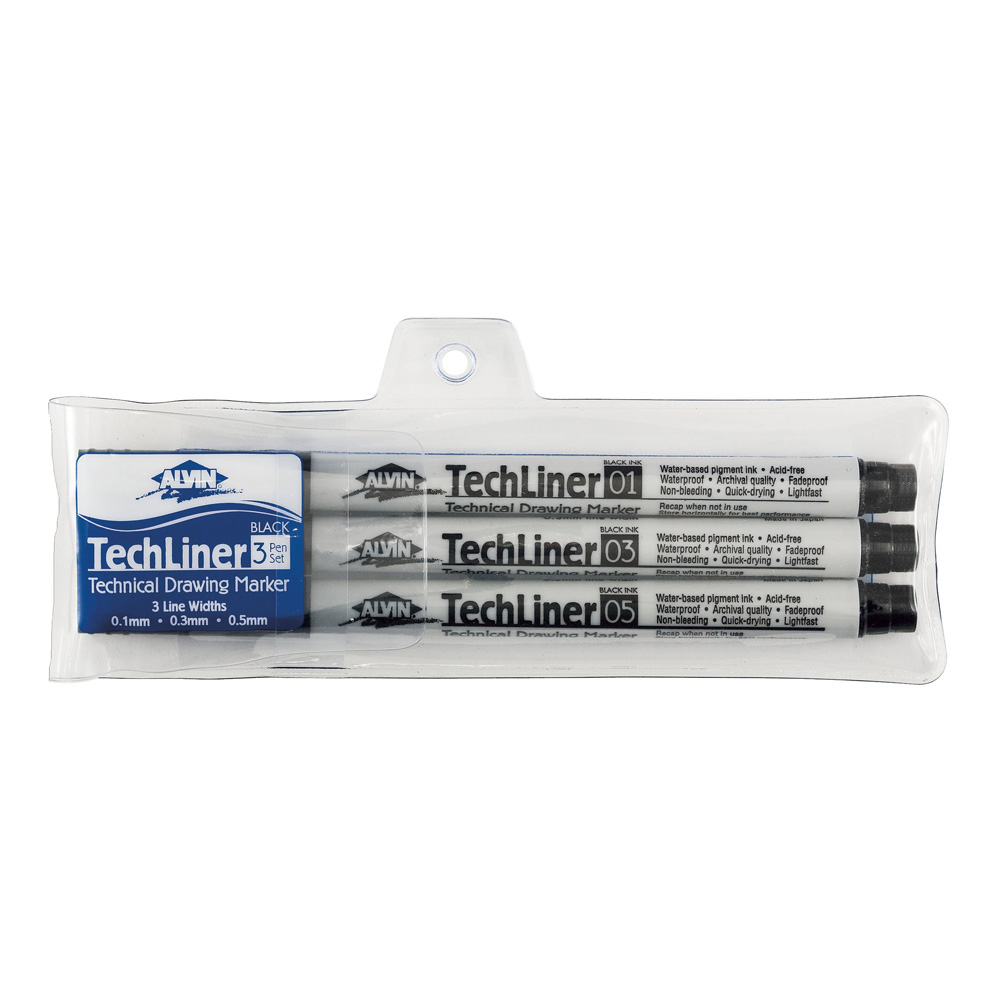 Alvin Techliner 3 Marker Set