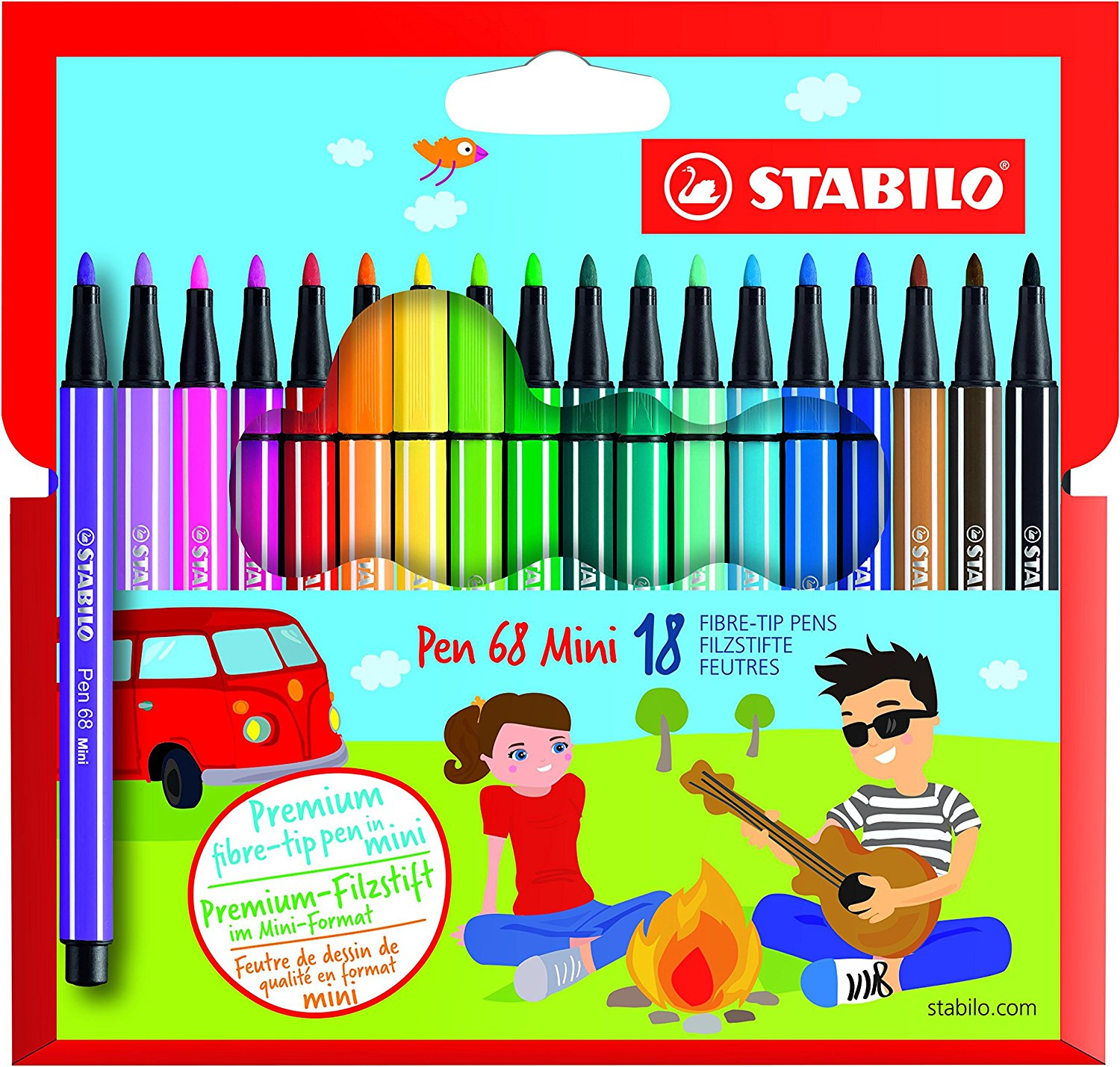 Stabilo Mini Pen 68 18-Color Wallet
