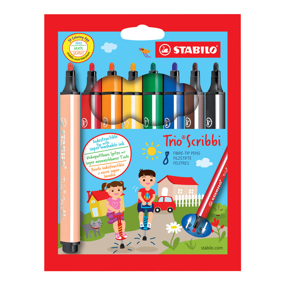 Stabilo Trio Scribbi Marker Set Of 8