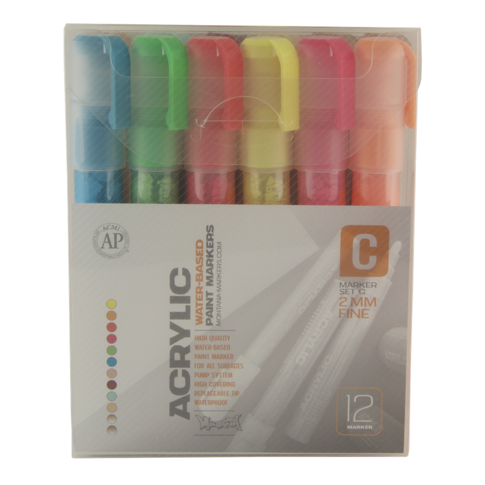 Montana Acrylic Paint Marker 12 Set 2Mm C