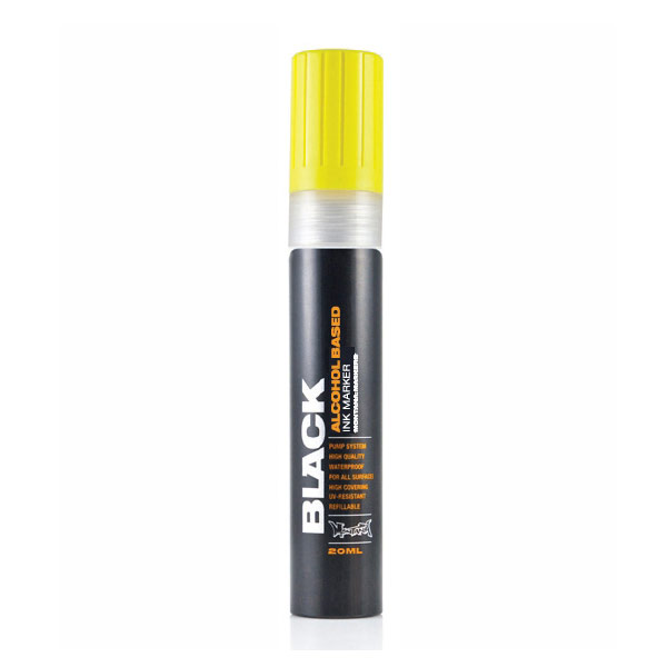 Montana Black Marker 10Mm Chisel Yellow