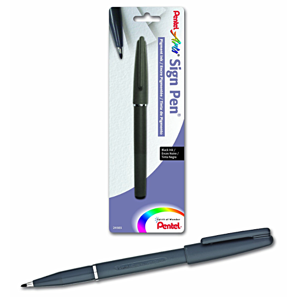 Pentel Sign Pen St150 Black Pigment Ink