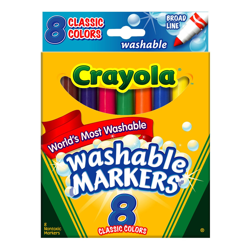 Buy Crayola & Kids Markers In Non-Toxic Colors For Hours Of Fun!