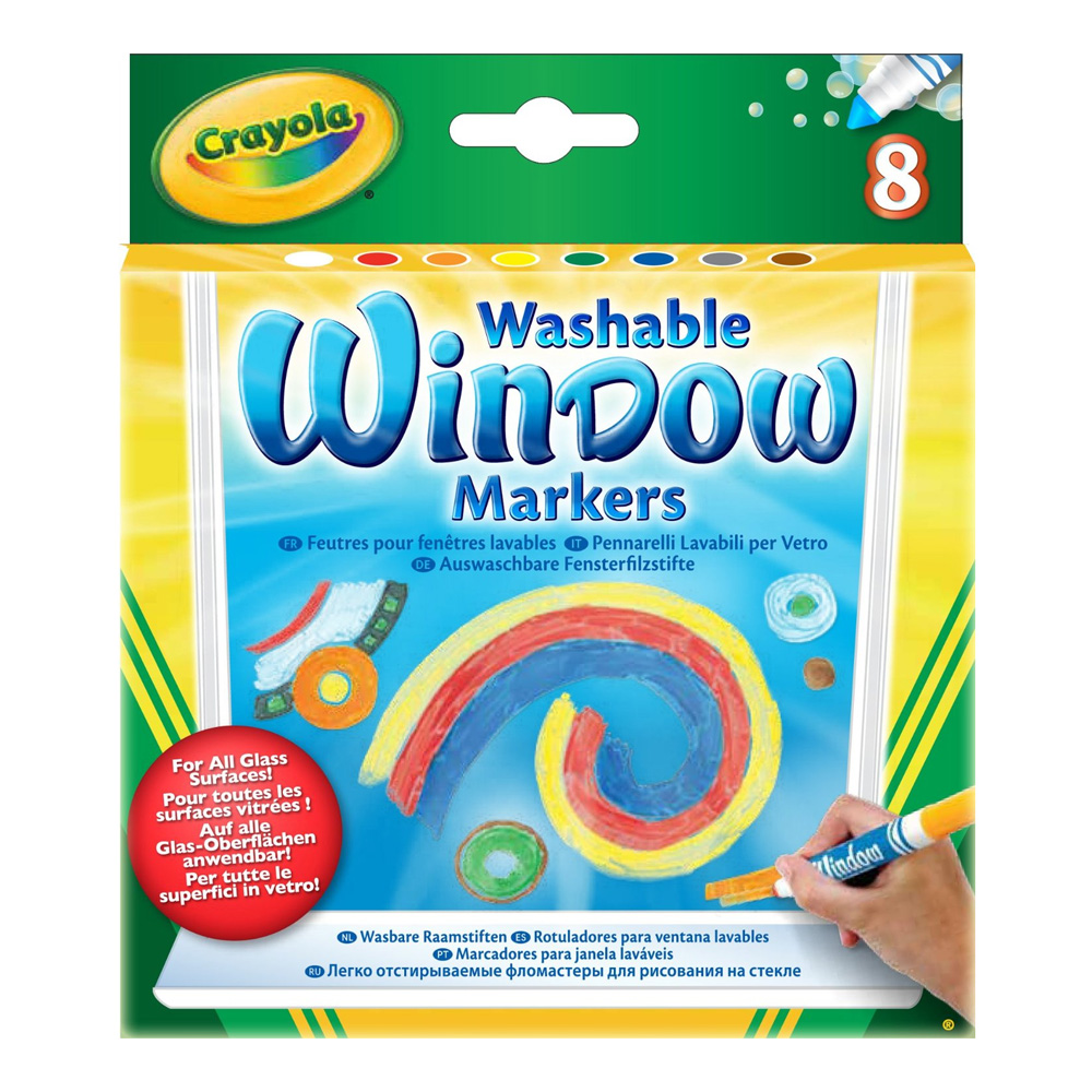Crayola 8 Window Fx Washable Markers