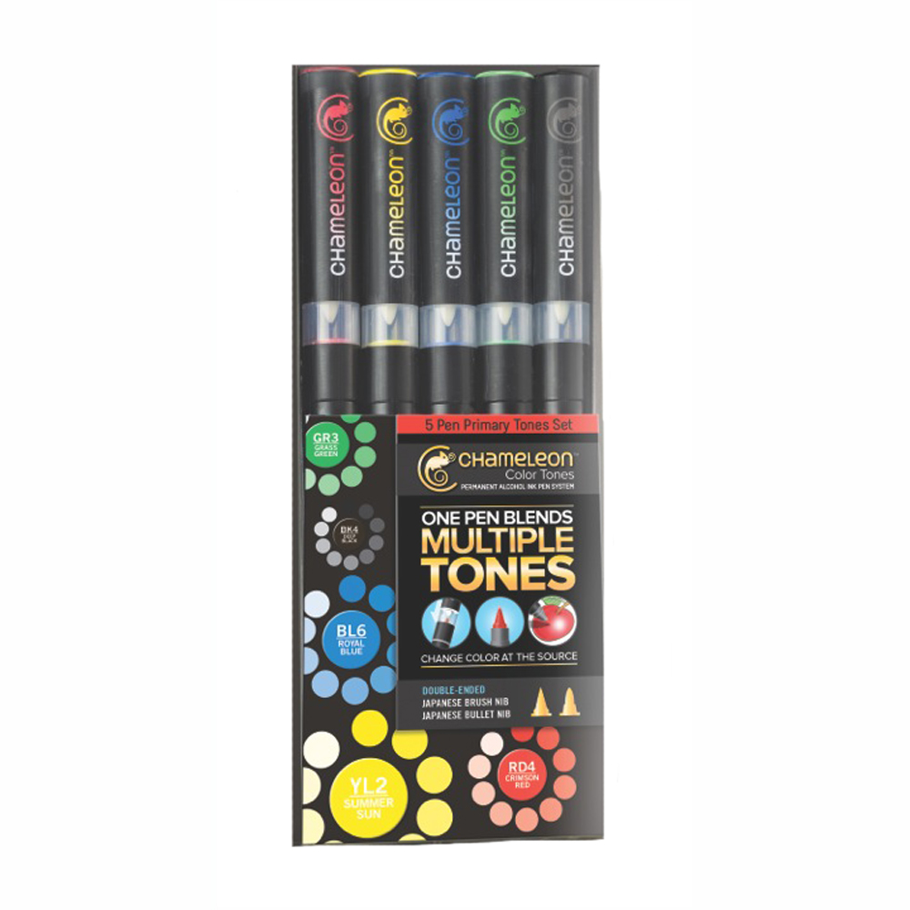 Chameleon Pen Set Of 5 Primary Tones