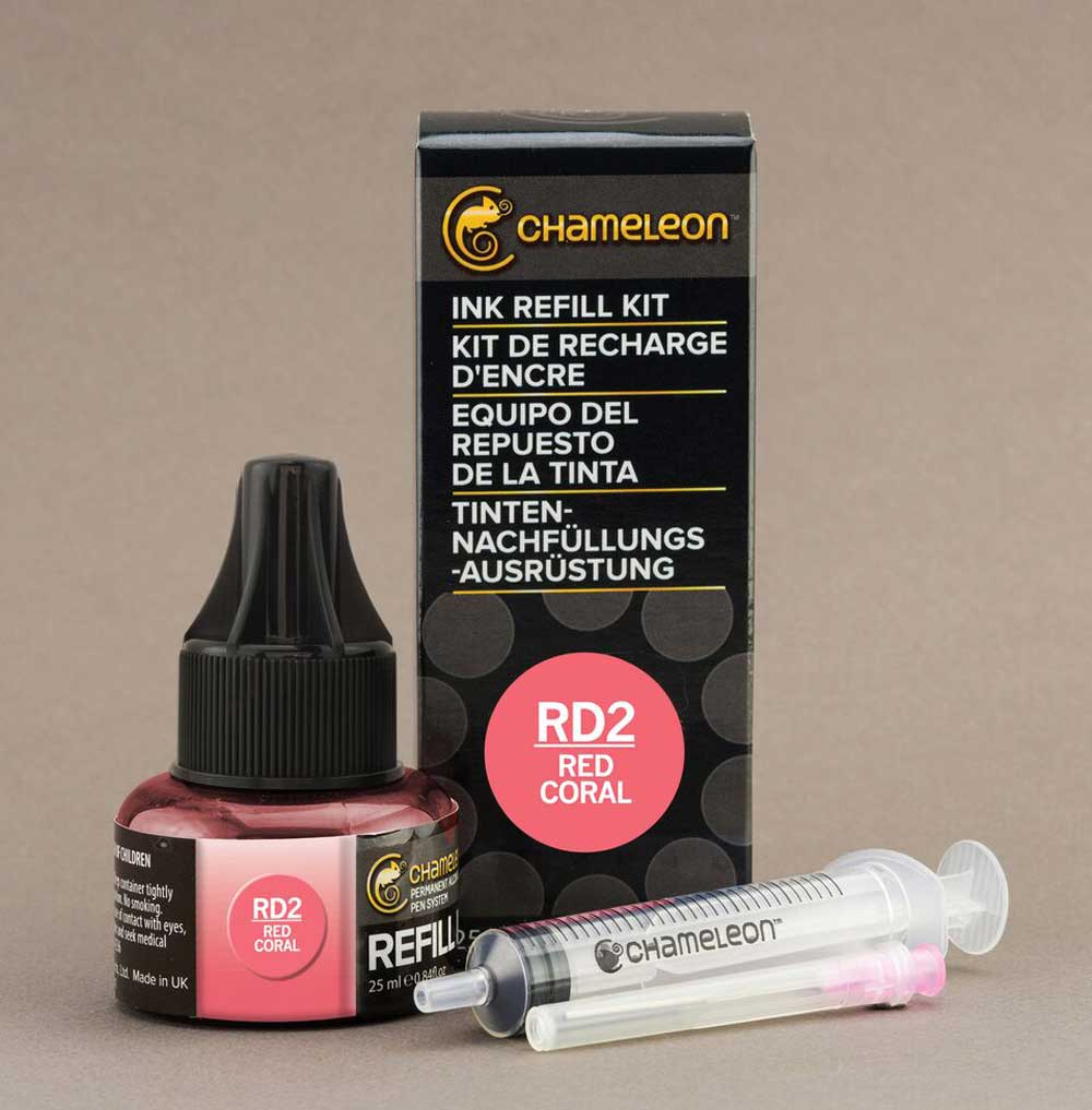 Chameleon Ink Refill 25Ml Rd2 Red Coral