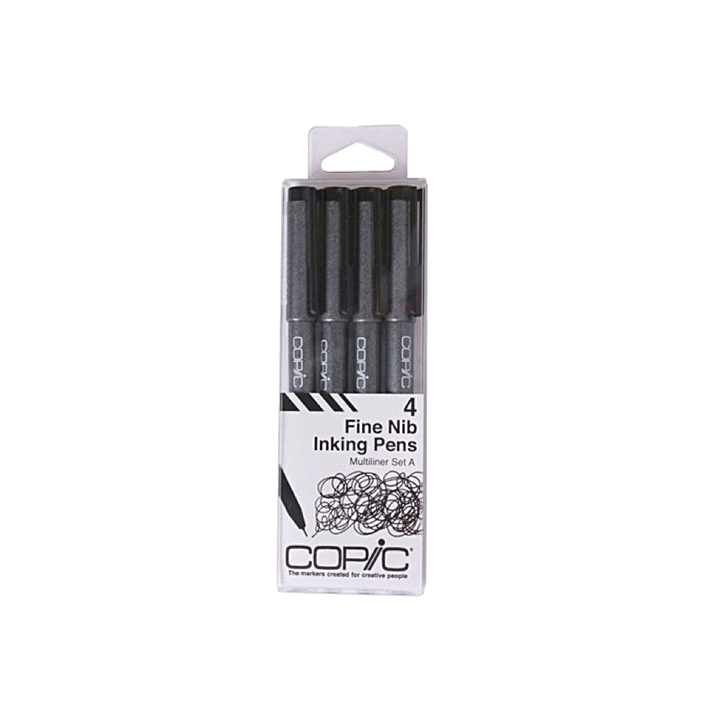 Copic Multiliner Fine A 4-Piece Set