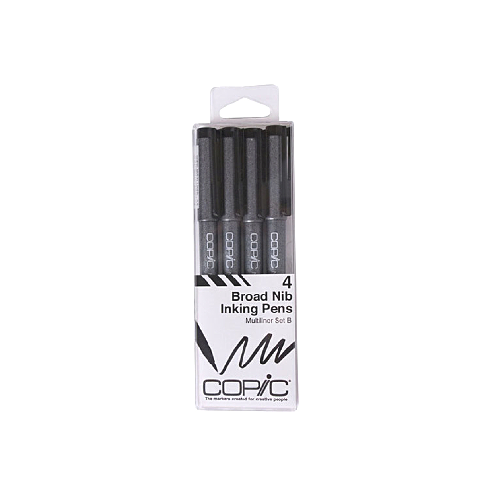 Copic Multiliner Broad B 4-Piece Set