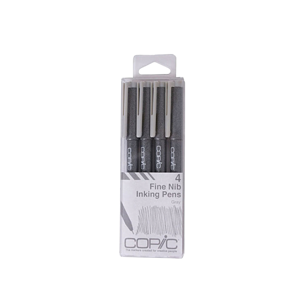 Copic Multiliner 4pc Set Gray
