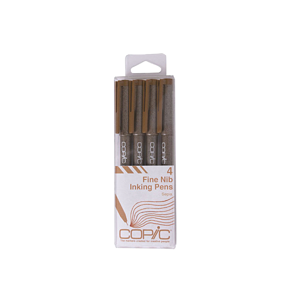 Copic Multiliner Sepia 4-Piece Set