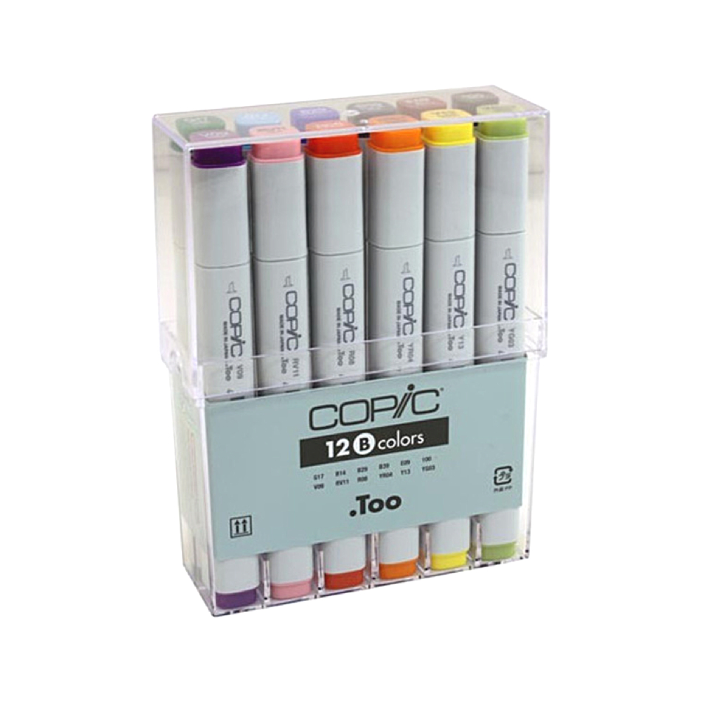 Copic Original Marker 12 Color Basic Set