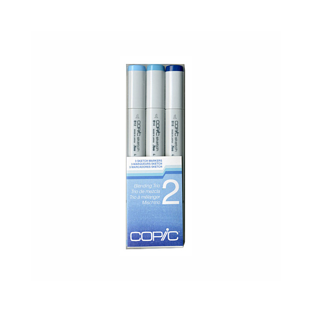 Copic Sketch Blending Trio 2 Blue