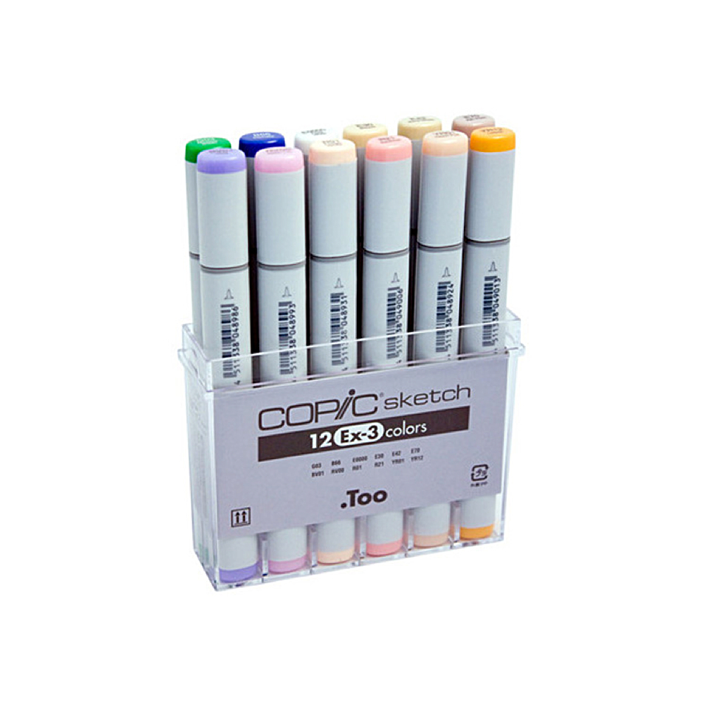 Copic Sketch Marker 12 Color Ex-3 Set