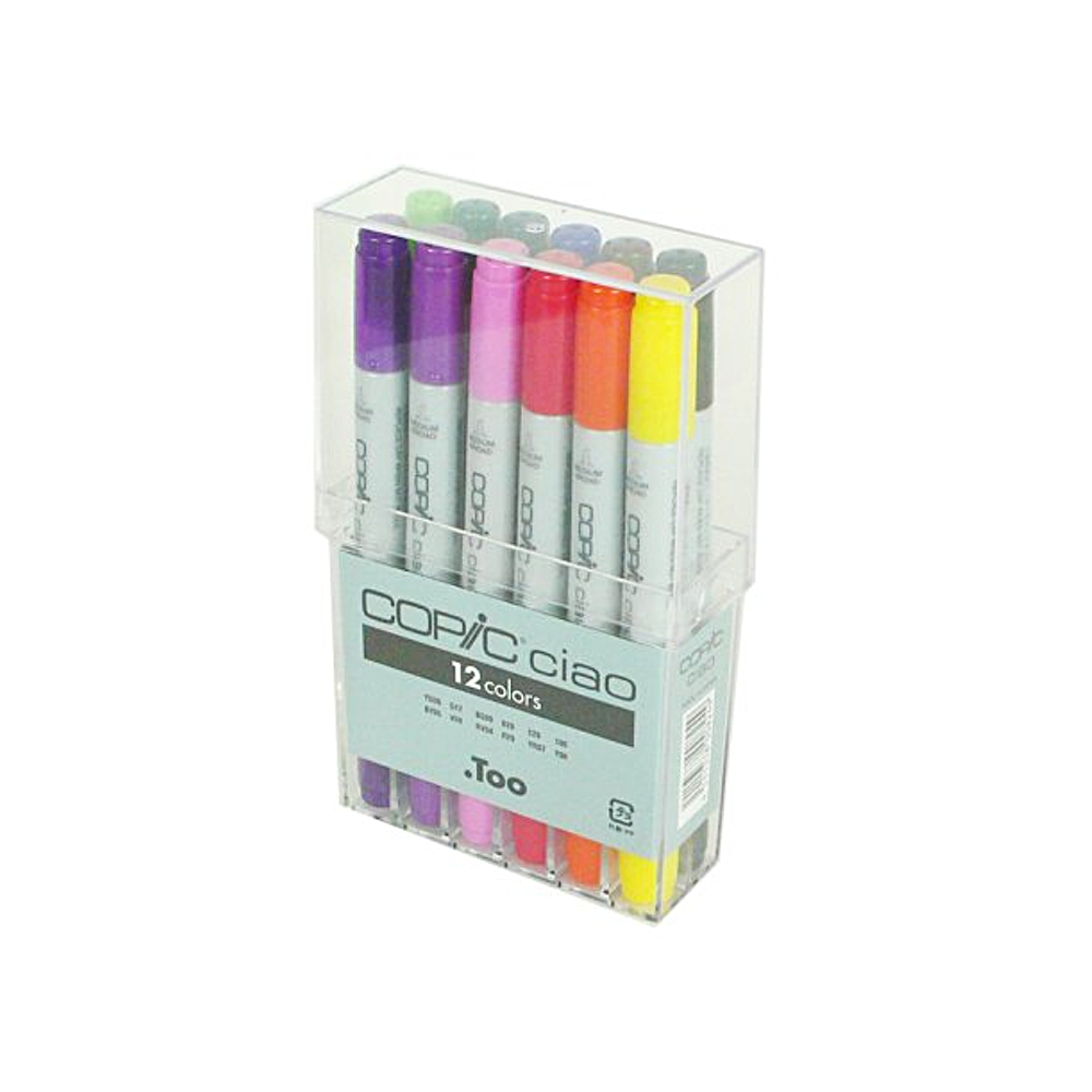 Copic Ciao Markers 12 Color Basic Set
