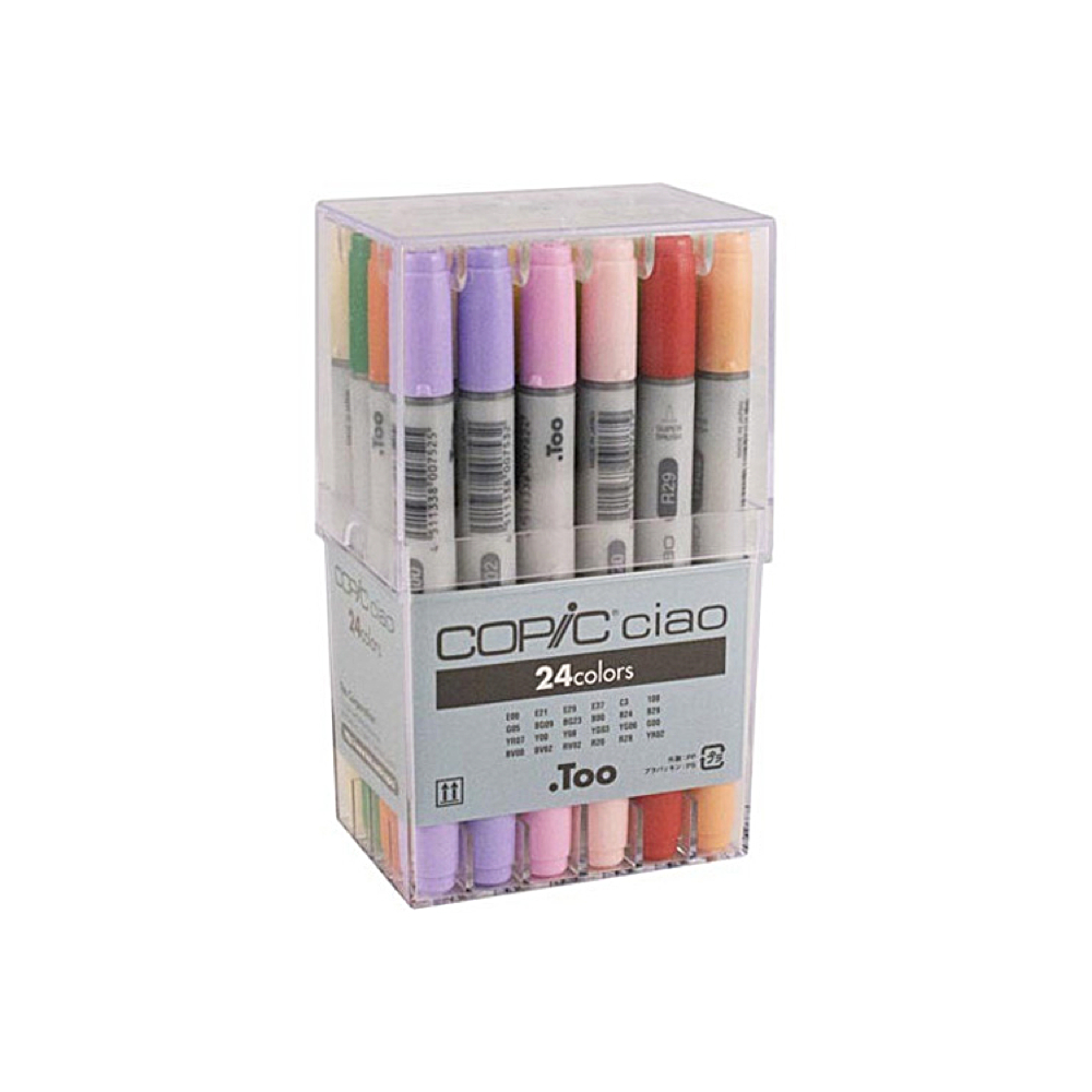 Copic Ciao Markers 24 Color Basic Set