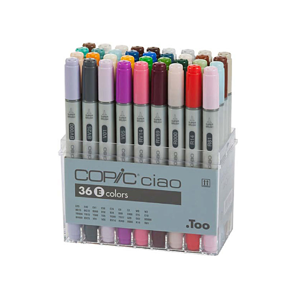 Copic Ciao Markers 36 Color E Set