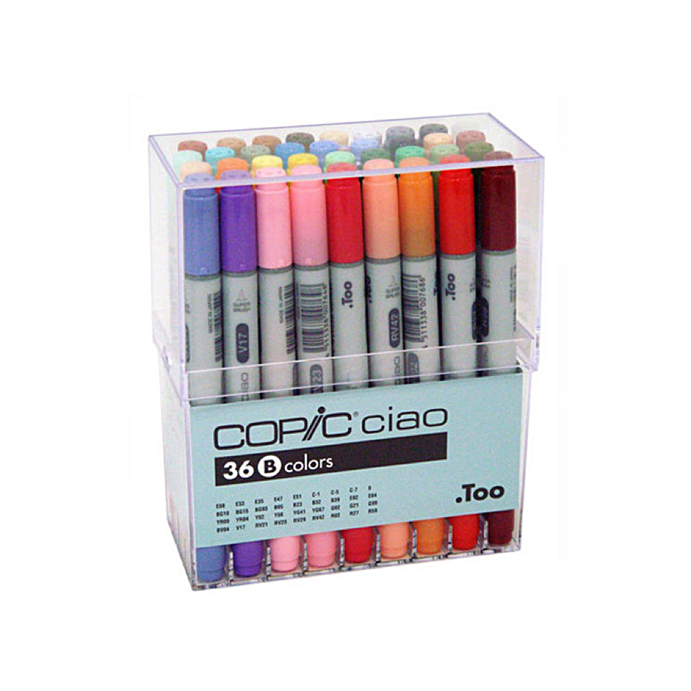 Copic Ciao Markers 36 Color B Set
