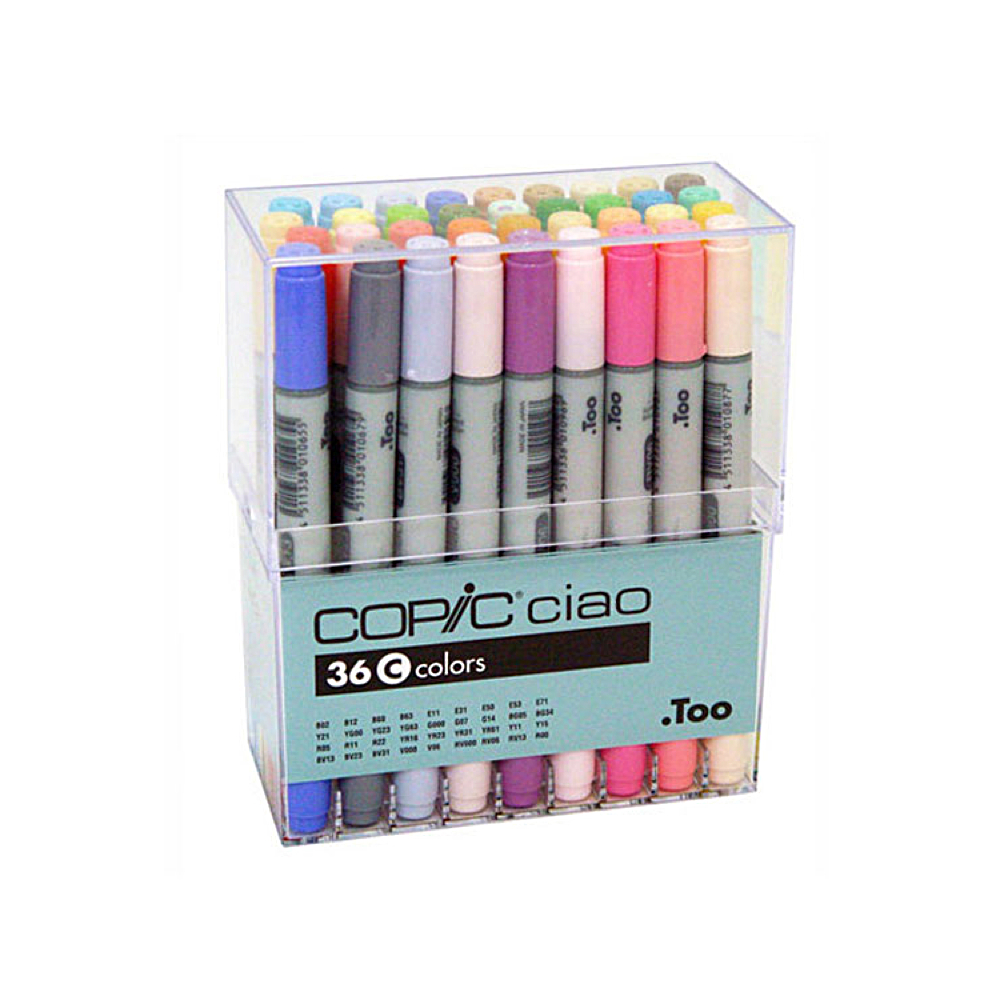 Copic Ciao Markers 36 Color C Set