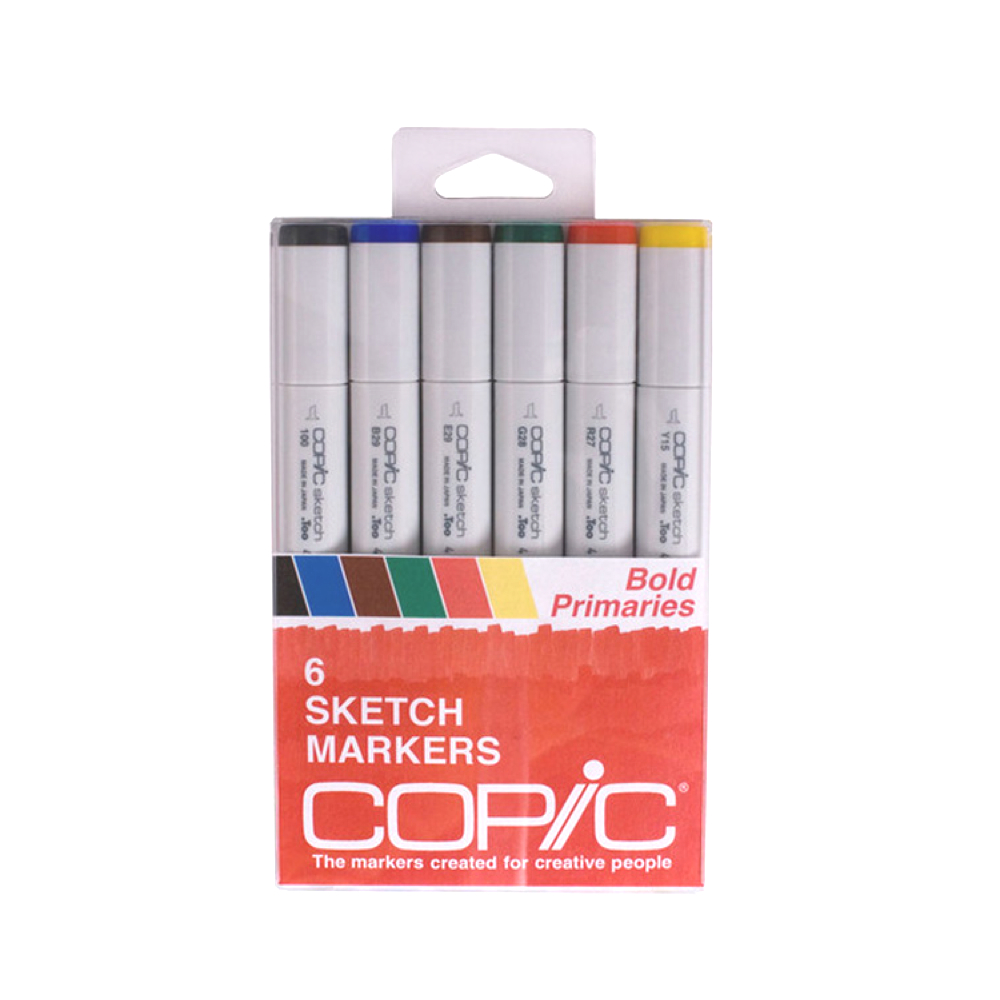Copic Sketch Marker 6 Color Set Bold Primary