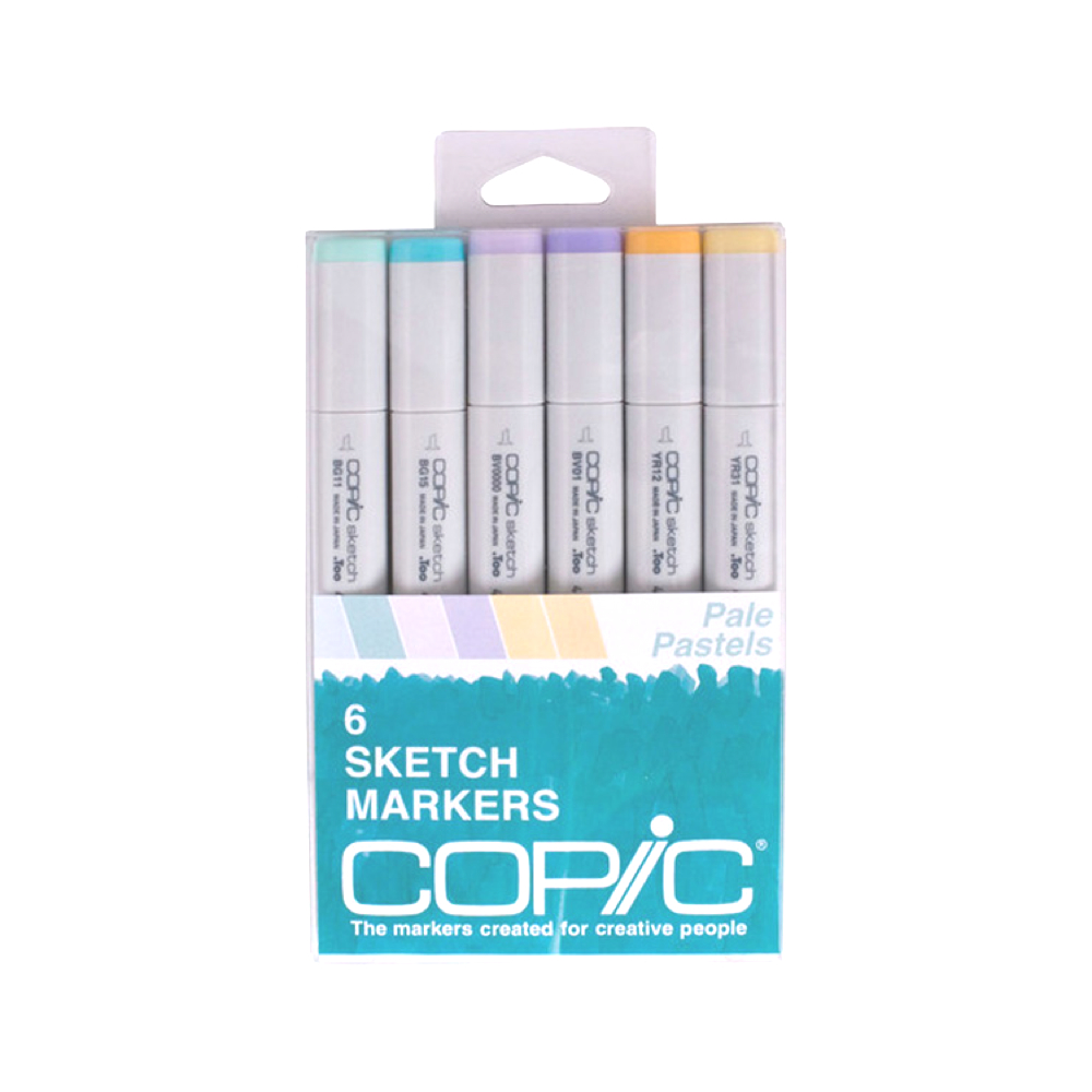 Copic Sketch Marker 6 Color Set Pale Pastels