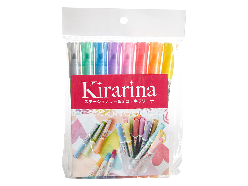Kirarina 2Win Scented Marker Set Of 8