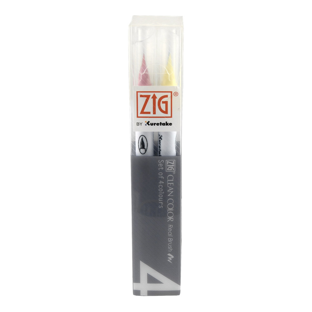 Zig Clean Color Real Brush Pop Set/4