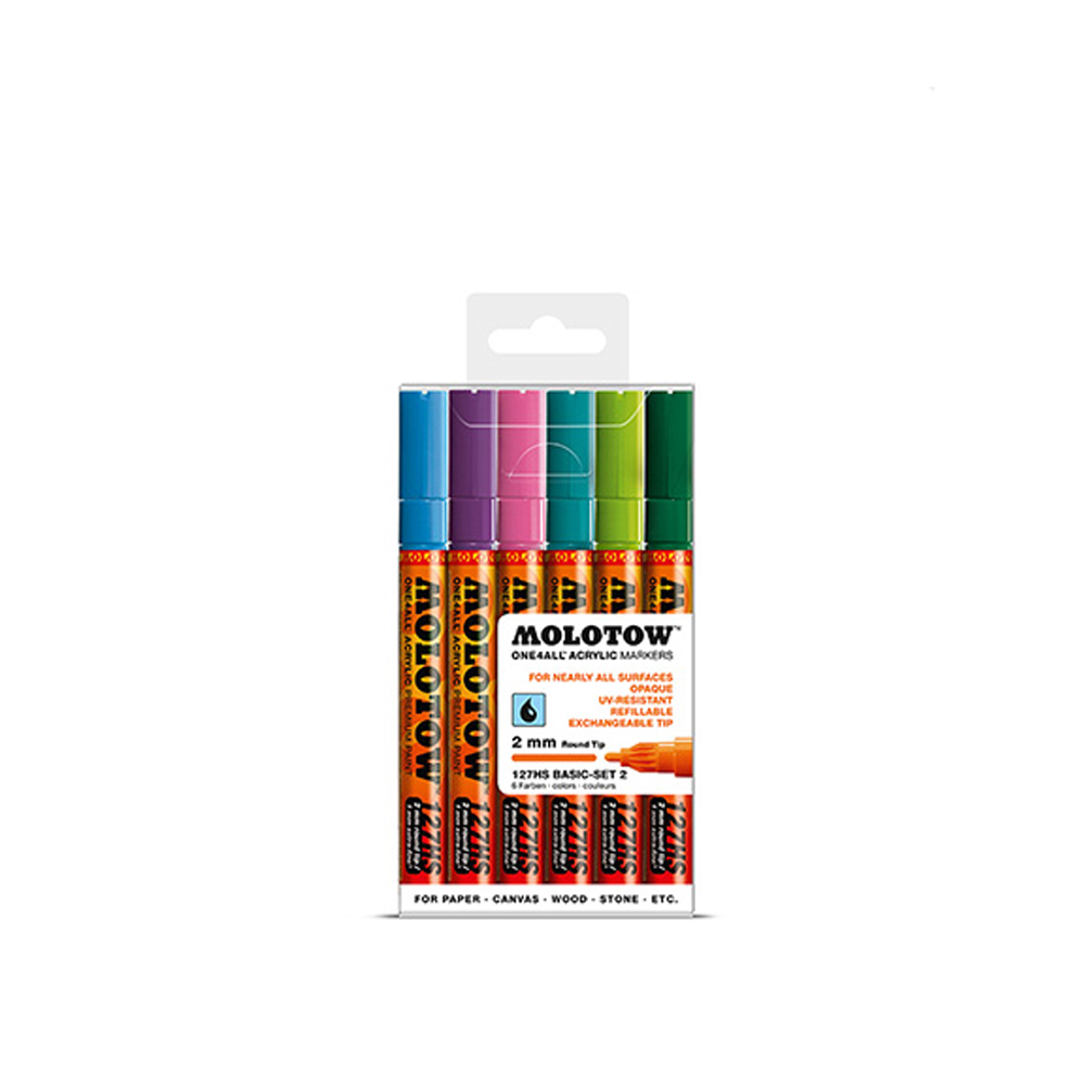 Molotow 127Hs Basic 2Mm Set 2-6 Piece