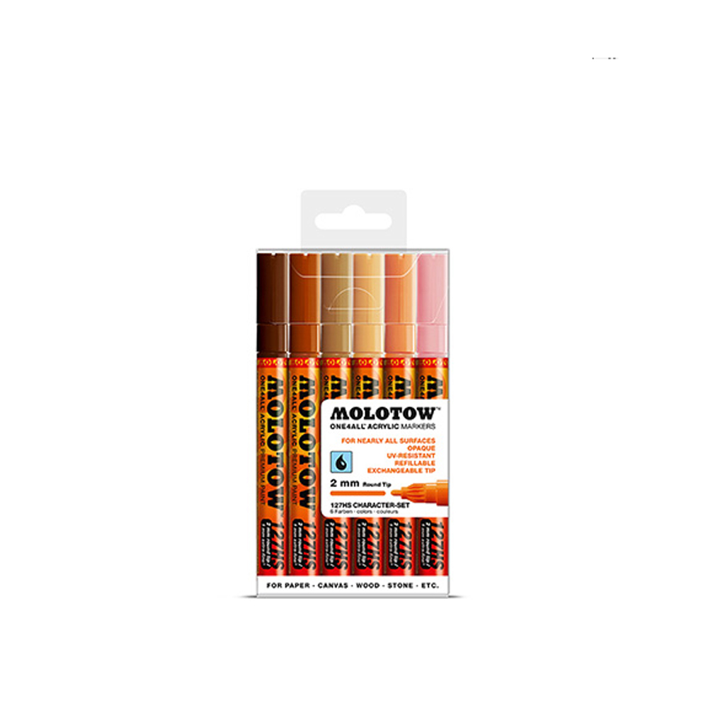 Molotow 127Hs Character 2Mm Set-6 Piece