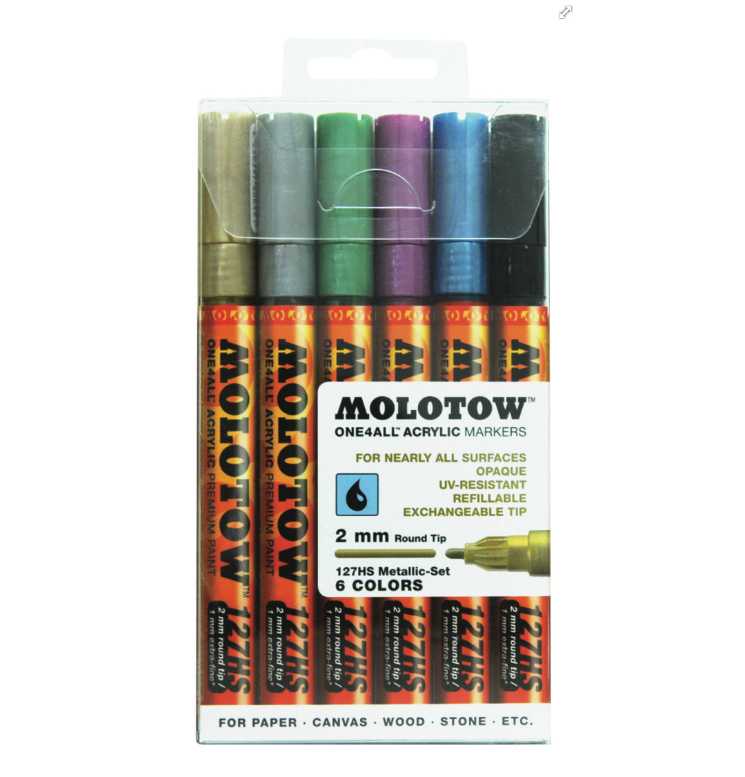 Molotow 127Hs Metallic 2Mm Set-6 Piece