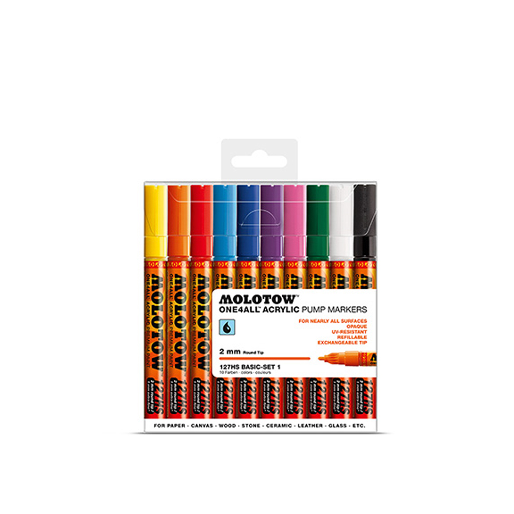 Molotow 127Hs Basic 2Mm Set 1-10 Piece