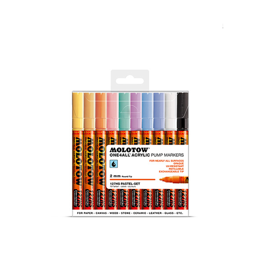 Molotow 127Hs Pastel 2Mm Set-10 Piece